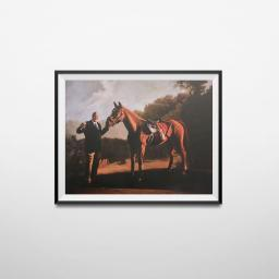 "Tony Soprano And Pie-O-My Horse Painting Poster The Sopranos Race 18"" x 24"" Wall"