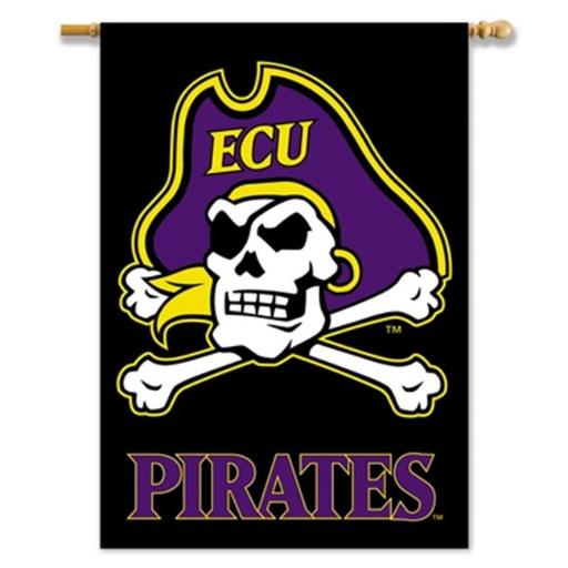 BSI Products 96728 28 x 40 in. 2-Sided East Carolina Pirates Banner DT5A248E6P8BO2I1