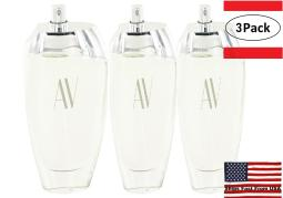 3 Pack AV by Adrienne Vittadini Eau De Parfum Spray (Tester) 3 oz for Women