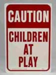 """Hy-ko Hw-7 Caution Children At Play Signs, Aluminum, 12"""" X 18"""""""