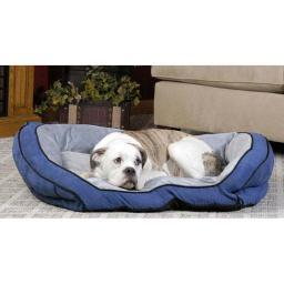 K&H Pet Products 7312 Blue / Gray K&H Pet Products Bolster Couch Pet Bed Small Blue / Gray 21 X 30 X 7