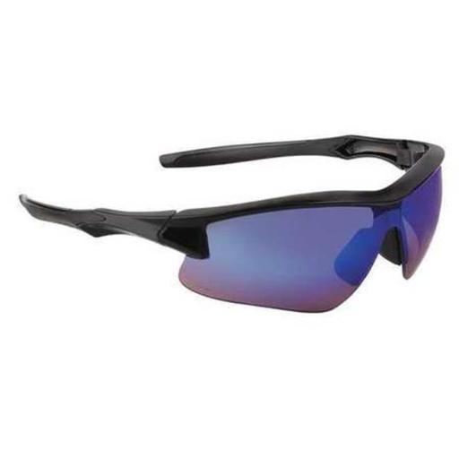 Honeywell Uvex 763-S4165 Acadia Safety Glasses Blue Mirror & Black Frame - Pack of 10