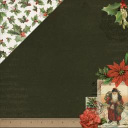 "Letters To Santa Double-Sided Cardstock 12""X12""-Holly & Berries P2393"