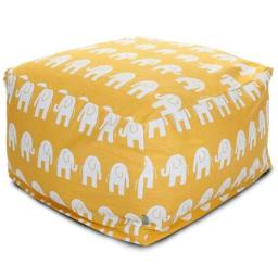 Majestic Home Yellow Ellie Large Ottoman