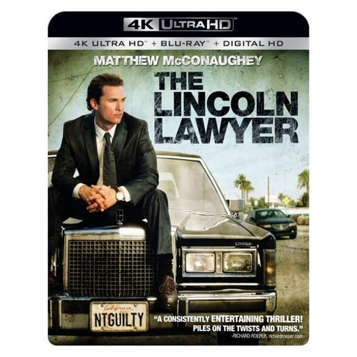 Lincoln lawyer (blu ray/4kuhd/ultraviolet/digital hd) (2discs) FD6KEY7OFNHZFYNA