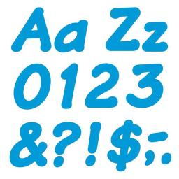 Trend Enterprises T-2702BN 4 in. Italic Ready Letters, Blue - Pack of 6