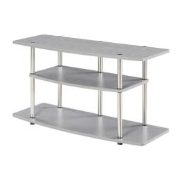 Convenience Concepts 131031GY 15.75 x 21.75 x 42 in. 3 Tier Wide TV Stand, Gray