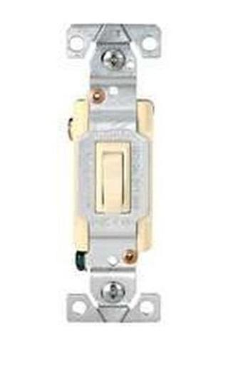 Cooper Wiring 1303-7a 3-way Framed Toggle Ac Quiet Switch, Almond