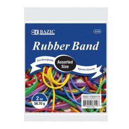 Bazic 6110  2 Oz./ 56.70 g Assorted Sizes and Colors Rubber Bands  Case of 36
