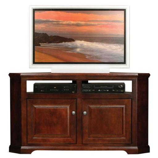 Eagle Furniture 92564WPSS 56 in. Savannah Corner Entertainment Console with 2 Raised Panel Doors, Summer Sage