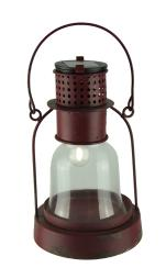 Solar Powered LED Vintage Carriage Lantern Outdoor Accent Light