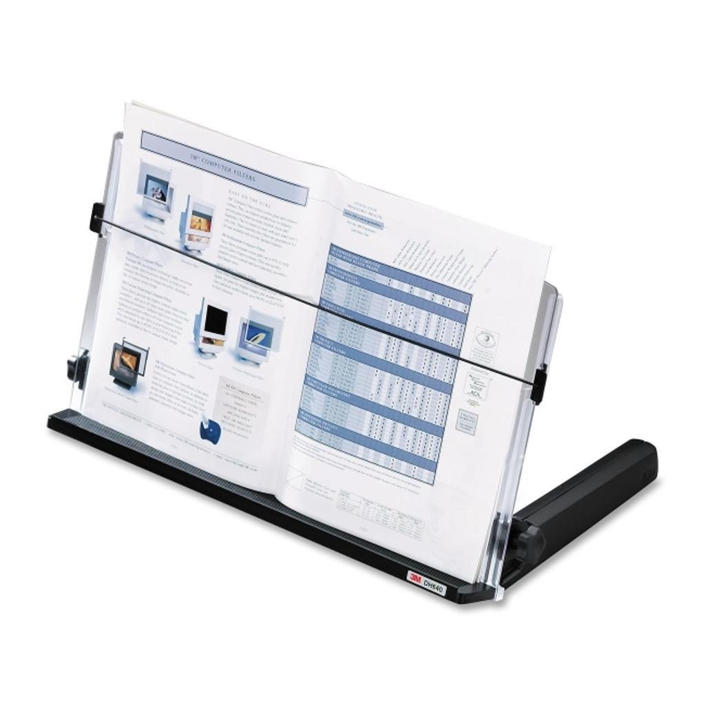 3m mobile interactive solution dh640 adjustable book/document holder up 300