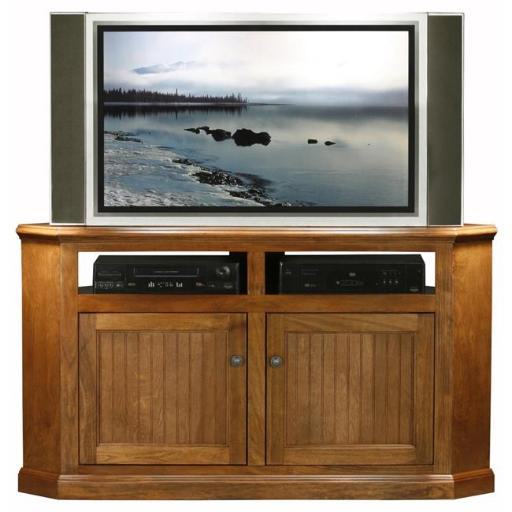 Eagle Furniture 72744WPSS 56 in. Coastal Corner Entertainment Console, Summer Sage