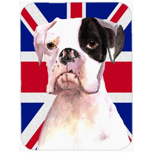 7.75 x 9.25 In. Boxer Cooper with English Union Jack British Flag Mouse Pad, Hot Pad or Trivet