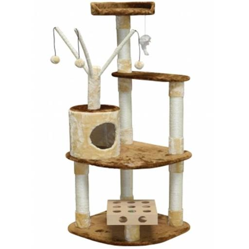 Go Pet Club SF053 IQ Busy Box Cat Tree House Toy Condo Pet Furniture, 24 W x 24 L x 60 H in.