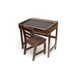 Lipper 554wn child chalkbd dsk chair walnut