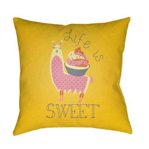Surya LI025-2222 Littles 22 x 22 x 5 in. Throw Pillow, Grey - Large