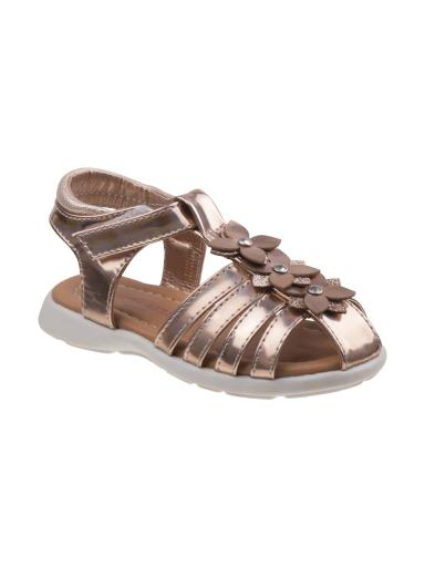Laura Ashley Girls Champagne Flower Caged Fisherman Sandals 11-12 Kids
