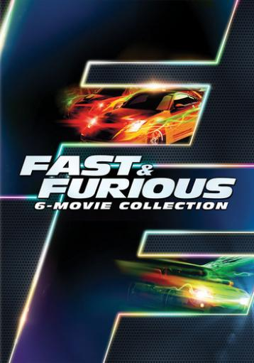 Fast & furious 6-movie collection (dvd) (6discs/snap cases w/slipcase) 1287107
