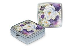 Pun43839 punch studio pill box purple bouquet