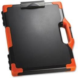 Carry Clipboard Box, Black & Orange