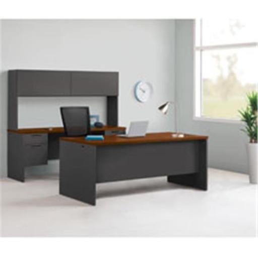 Lorell LLR97126 Cherry & Charcoal Modular Desk Furniture
