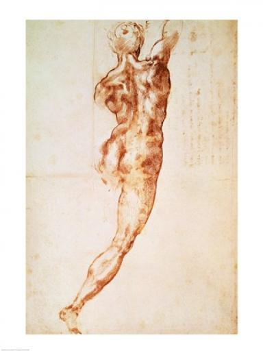 Nude, study for the Battle of Cascina Poster Print by Michelangelo Buonarroti E7KTCZLNN0JQLUBI