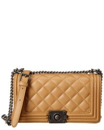 KC Jagger Large Leather Boyfriend Bag