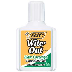 Bic usa inc bic wite out correction fluid extra wofec12