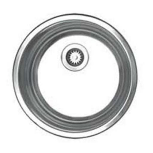 11.37 in. Noahs Collection round drop-in entertainment-prep sink- Brushed Stainless Steel