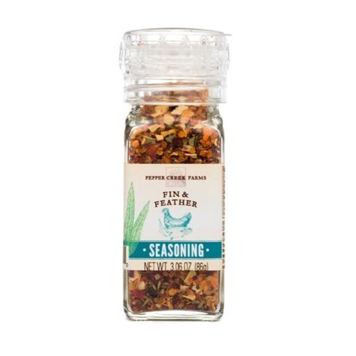 Pepper Creek Farms 600D-GR4 Fin & Feather Seasoning With Grinder - Pack of 6