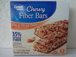 Great Value Chewy Fiber Bars Oats & Peanut Butter 5 Ct 1.4 oz (40 g)