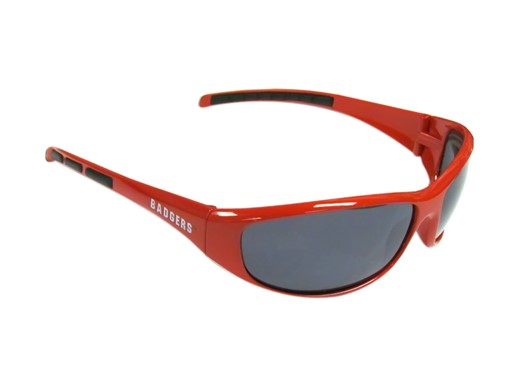 Sports Team Logo NCAA Wisconsin Badgers Wrap 3 Dot Sunglasses