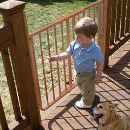 Cardinal Gates Ss30Od-Br Brown Cardinal Gates Stairway Special Outdoor Wall Mounted Pet Gate Brown 27 - 42.5 X 1.5