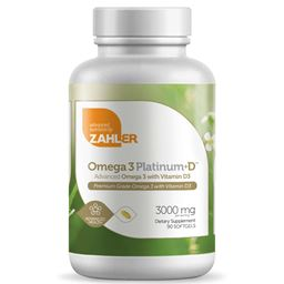 Zahler Omega 3 Platinum +D, All-Natural Pure Fish Oil Supplement, Burpless Softgel with No Fishy Aftertaste, Highest in EPA and DHA, Certified Kosher, 360 Softgels