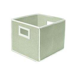 Badger Basket Co Folding Basket/Storage Cube - Sage Gingham