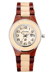 Women's Natural Maple & Rosewood Wooden Watch - She Deserve It
