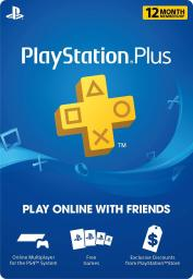 PlayStation Plus: 12 Month Membership (Digital Code)