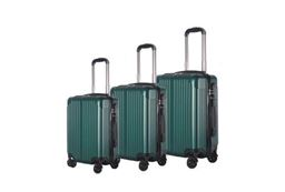 Brio Luggage Hardside Spinner Luggage Set #956 - Dark Green