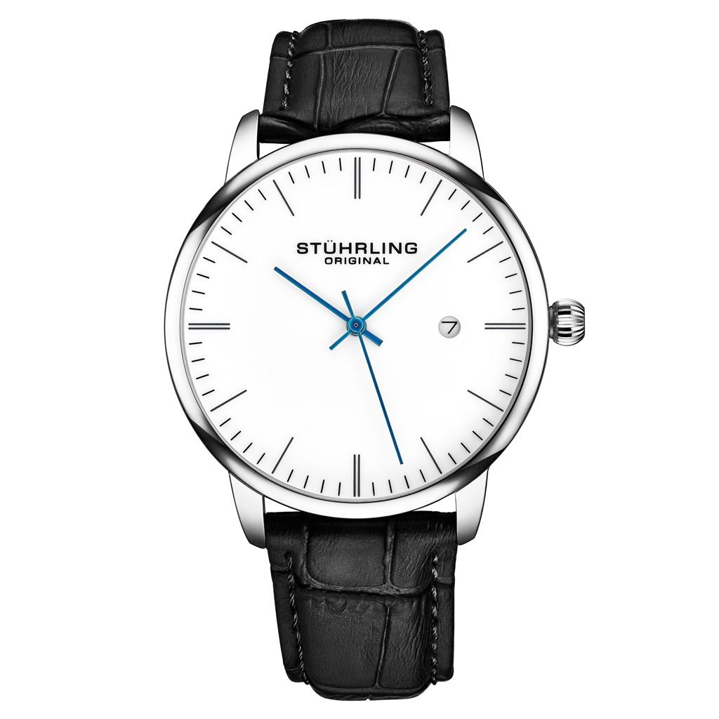 Stuhrling Men's 3997 Minimalist Design Dress Casual Date Genuine Leather Watch