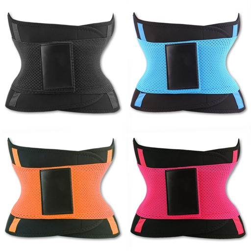 Women's Waist Trainer Belt Body Shaper Belt For Hourglass Shape Toned Waist - 4 Color Bundle