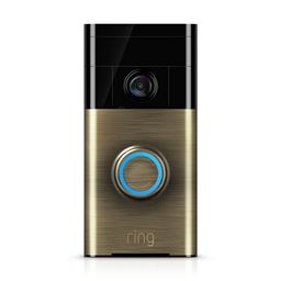 Ring Wi-Fi Enabled Video Doorbell - Brass