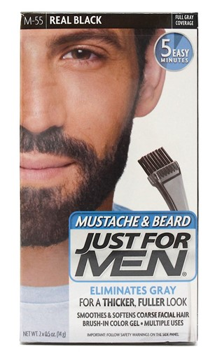 Just For Men M-55 MUSTACHE & BEARD REAL BLACK (3 Pack) F389C2402F2F46E8