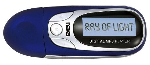 Naxa Nm-105 Naxa Blue Mp3 Player With 4Gb Built In Flash Memory Lcd Display