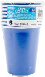 Beverage Cups 9oz 8/Pkg Royal Blue