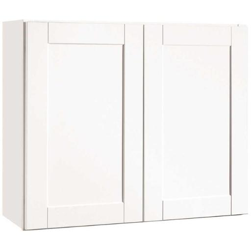 Continental Cabinets Cbkw3630-Ssw Rsi Home Products Andover Shaker Wall Cabinet White 36X30 In.