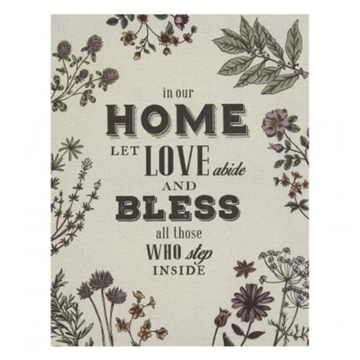 Stratton Home Decor S01441 In our Home Linen Wall Art