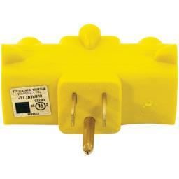 Axis(tm) 45093 3-outlet Heavy-duty Grounding Adapter (yellow)