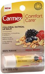 Carmex Comfort Care Colloidal Oatmeal Lip Balm Mixed Berry .15 Oz Tubes - 12 Ct, Pack Of 2