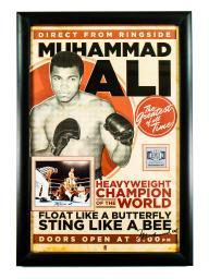 Muhammad Ali Signed Event Poster Autographed in Framed Case with COA